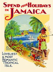Holiday Jamaica Caribbean Islands Jamaican Vintage Travel ...