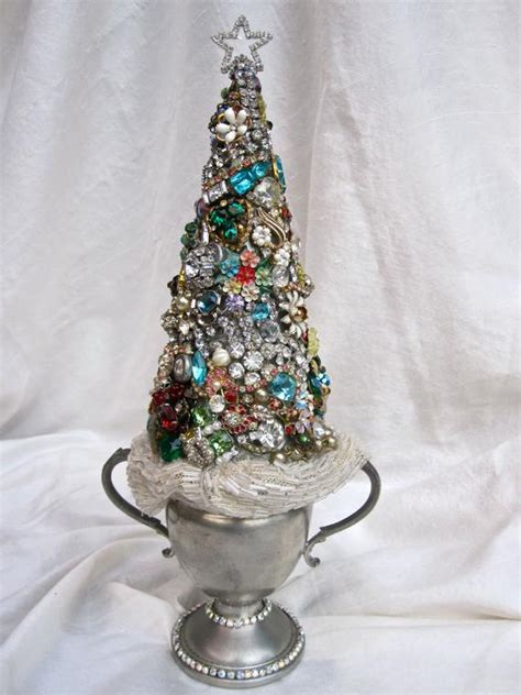 vintage jewelry rhinestone christmas tree  ladidahandbags