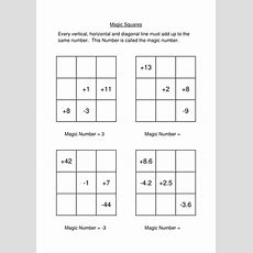 Negative Numbers Magic Square By Cronina  Teaching Resources Tes