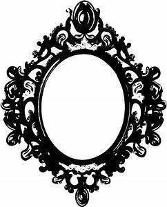Vintage clipart mirror frame - Pencil and in color vintage ...