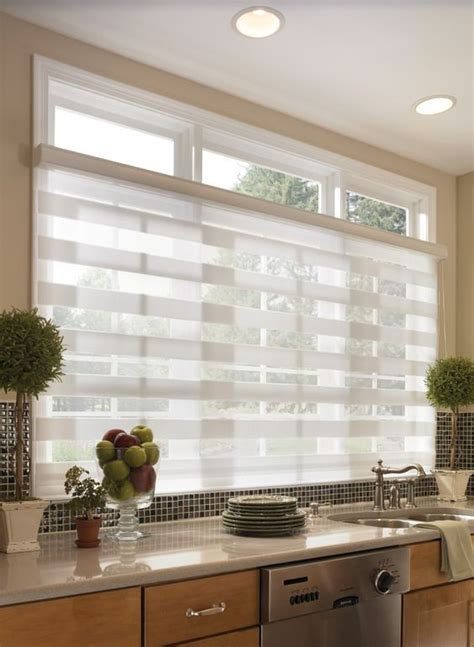 Kitchen Horizontal Blinds 3 kitchen window treatment types and 23 ideas shelterness
