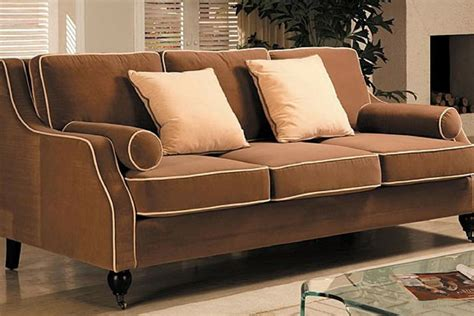 Buy Three Seater Brown Leather Sofa For Living Room In