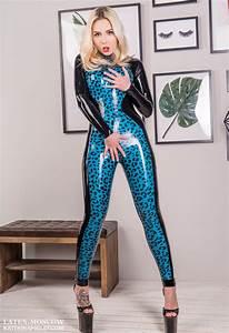 leo blue catsuit