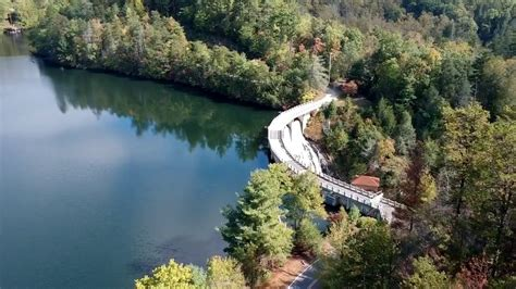 dji spark lake tahoma dam north carolina youtube