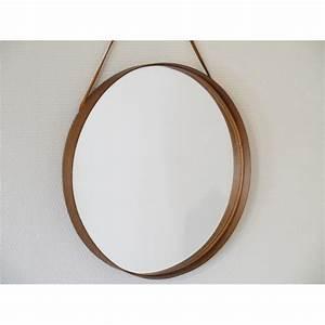 Miroir Rond Cuir : miroir scandinave annee 50 la maison retro ~ Teatrodelosmanantiales.com Idées de Décoration