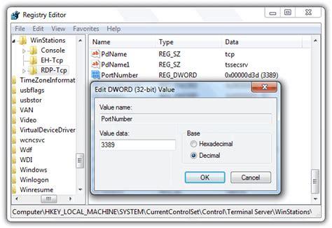 change the listening port for microsoft remote desktop