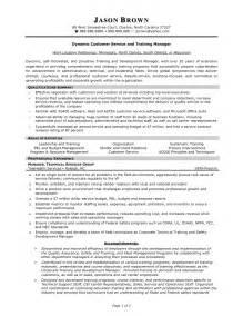 exle of customer service resume objective