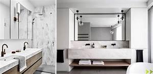 Salle De Bain Marbre Blanc : salle de bain marbre et bois du r ve la r alit datcha decoration ~ Nature-et-papiers.com Idées de Décoration