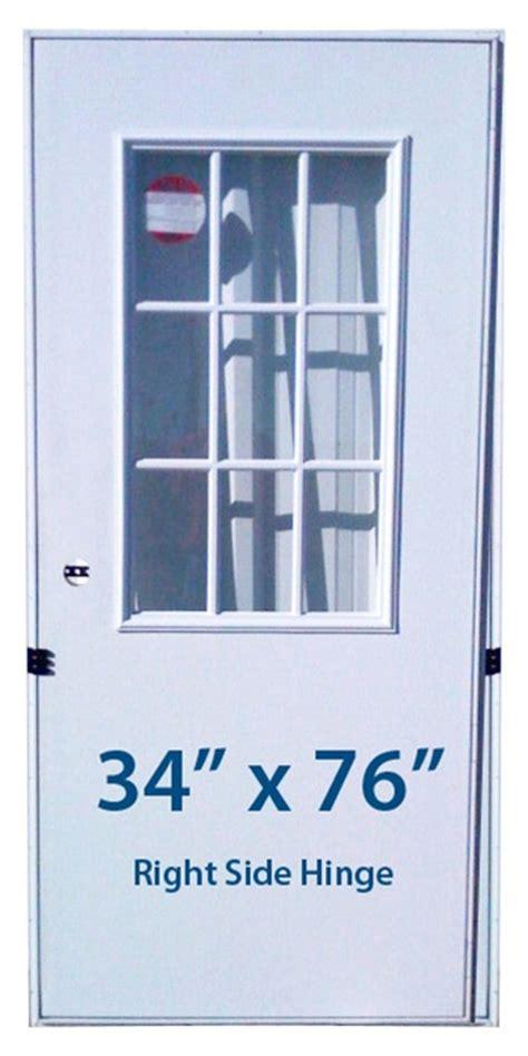 mobile home cottage door  rh  hand hinge doors  window
