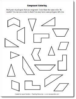 Congruent Coloring Freebie  Students Have To Find Pairs Of Congruent Shapes And Color Them The