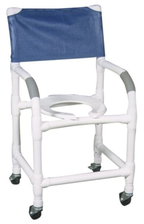 18 quot pvc shower commode chair standard open front seat
