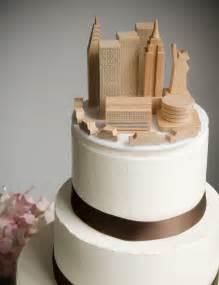 a simple cake wedding cake topper nyc skyline - Wedding Cakes Nyc