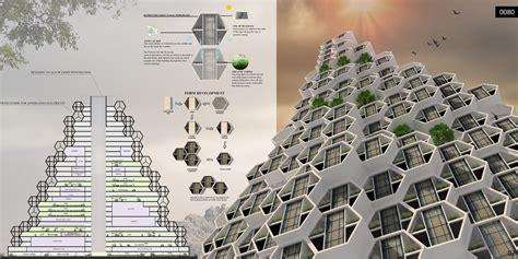 honeycomb refugee skyscraper evolo architecture magazine