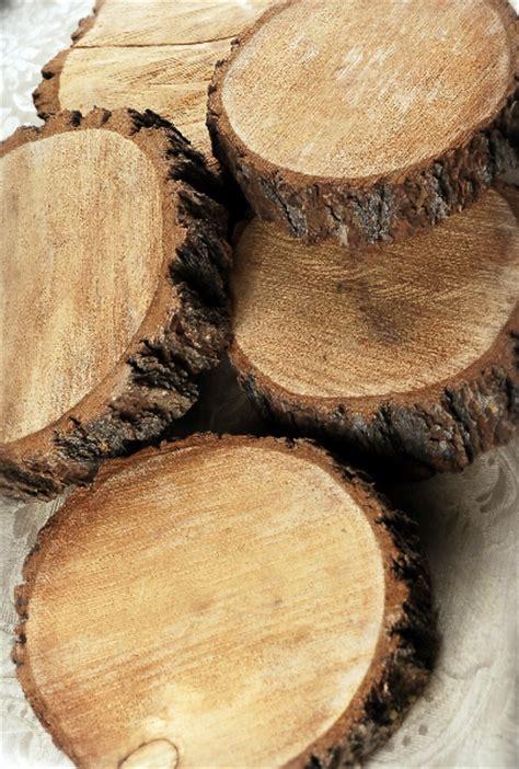 thick tree slices  bark