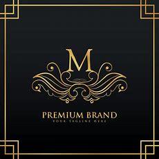 Elegant Golden Premium Brand Logo Concept Made With Floral