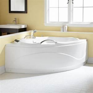 54quot Santorini Corner Acrylic Tub