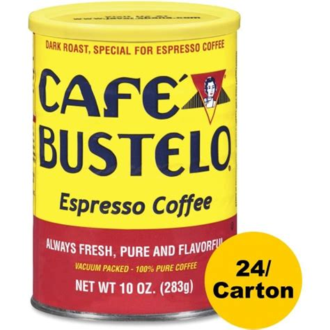 You'll start by making the sweetener, and the maple pecan syrup is enough for many lattes. Cafe Bustelo Caf Bustelo Espresso Blend Coffee - FOL00050CT - Shoplet.com