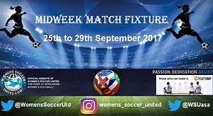 Women's Midweek Football Fixtures 25th to 29th September 2017