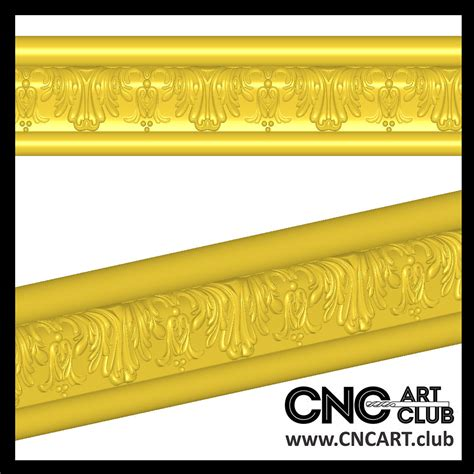 cnc carving  stl model  decorative baguette