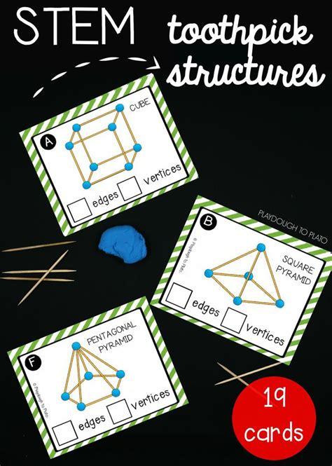 stem challenge build toothpick structures kindergarten