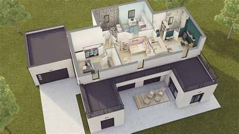 faire un plan de cuisine en 3d gratuit maison contemporaine loft 2 maison laure constructeur