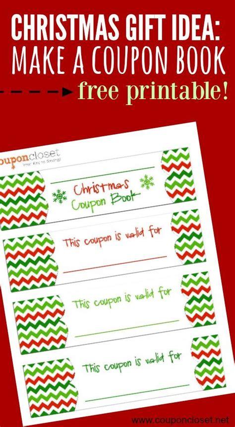 christmas coupon book printable homemade gift idea