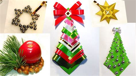 easy diy christmas tree paper christmas tree ribbon