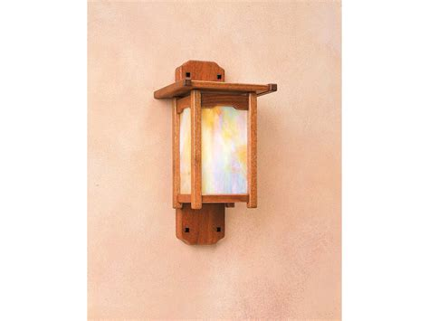 Arroyo Craftsman Thorsen Mahogany Wood Outdoor Wall Sconce