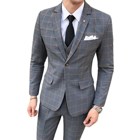 Shop men's, women's, women's plus, kids', baby and maternity wear. Navy Blue Burgundy Grey Plaid Suit For Men Slim Fit Groom ...