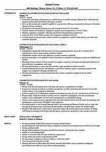 Amazing competitive intelligence resume sample gallery for Competitive resume sample