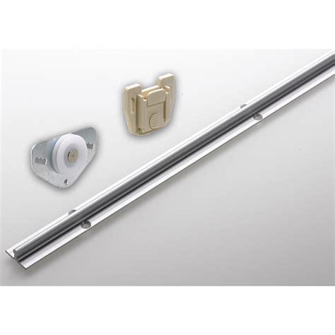 set de ferrures en aluminium pour portes coulissantes hettich larg porte 2m leroy merlin