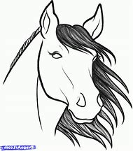 How to Drawing Simple Horse Head