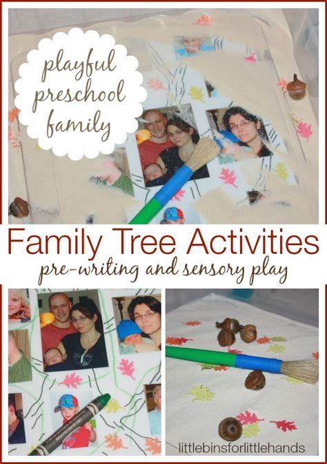 my family tree activity for sensory play and pre 460 | 7b33ac5a122cf6b9606b535862d4fc74