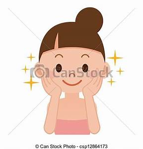 Stock Illustrations of Woman skincare csp12864173 - Search ...