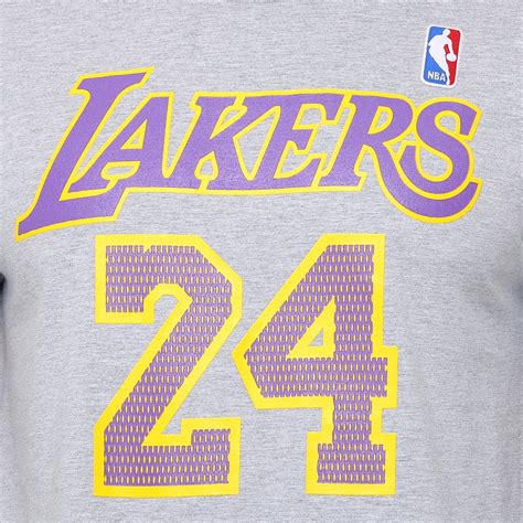 Camiseta NBA Name Number Los Angeles Lakers 24 - Cinza ...