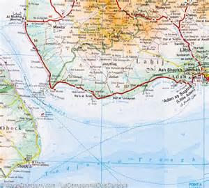 Gulf of Aden Yemen Map