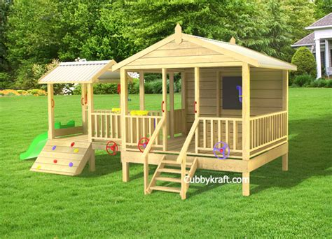 Tangle Wood Cubby Fort Backyard Playhouses By Cubbykraft