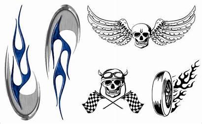 Stickers Motorcycle Bike Helmet Funny Decals Designs