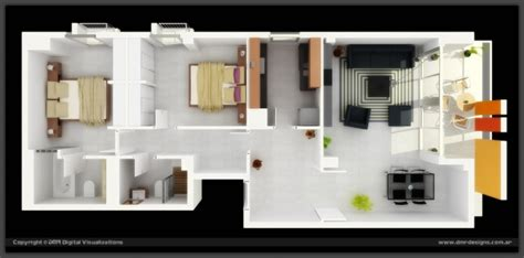plan appartement 2 chambres idee plan3d appartement 2chambres 33
