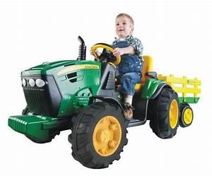 Batterie De Tracteur : jouet v hicule porteur tracteur avec remorque john deere ground force de peg perego ~ Medecine-chirurgie-esthetiques.com Avis de Voitures