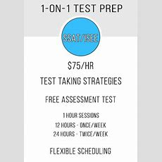 1on1 Ssatisee Test Prep Class  Math Etc Learning Center
