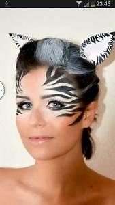 Karneval Gesicht Schminken : zebra make up karneval face painting pinterest schminktipps karneval und fasching ~ Frokenaadalensverden.com Haus und Dekorationen