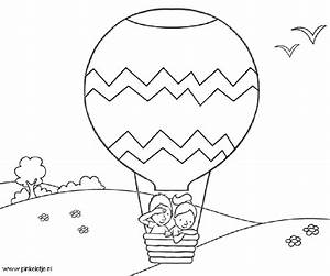 Hot Air Balloon Coloring Page - AZ Coloring Pages