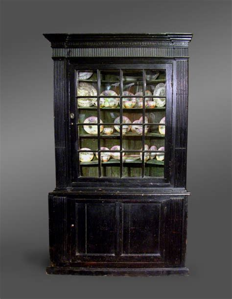 Black Corner Cupboard by Antique Painted Cupboard Antique Grained Glazed