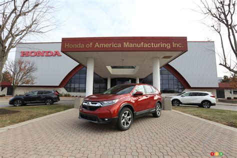 Honda Cr V Production by 2017 Honda Cr V Production Begins Review Coming Up Soon