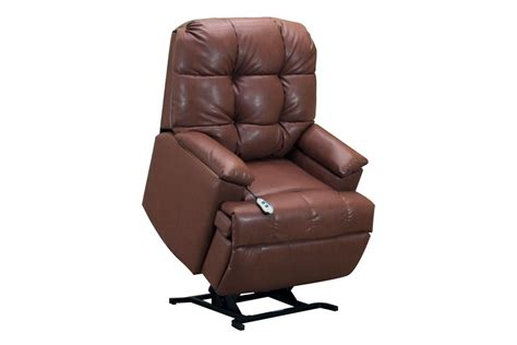 medlift brown bonded leather lift chair