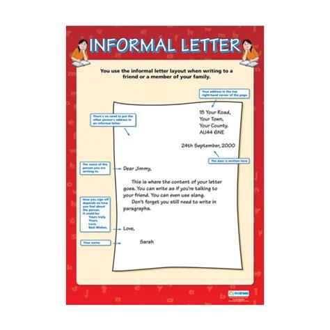 english school poster informal letter