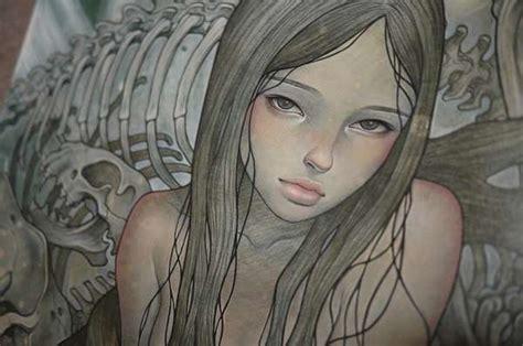 strangely suggestive paintings audrey kawasaki
