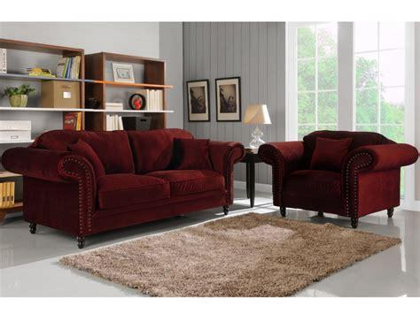 canape dehoussable canapé et fauteuil 100 velours 3 coloris elisabeth