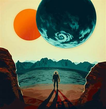 Science Fiction Poster Modern Illustration Computer Painting